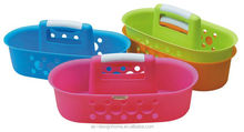 FUCHSIA, TURQUOISE, LIME GREEN, ORANGE OVAL PP PLASTIC TOOL CADDY