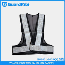 GuardRite Brand Motorcycle Flashing Led Reflective Safety Vest