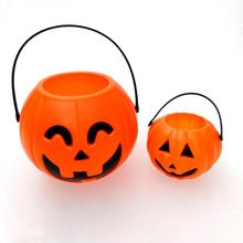 Halloween gift box plastic tube/basket pumpkin bucket