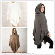 Hot sale Muslim style pullover crochet poncho for women
