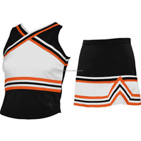 customize shell top and skirt cheerleading uniform