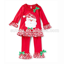 Persnickety christmas girls boutique outfits name brand santa ruffled pants christmas sets winter collection baby clothes