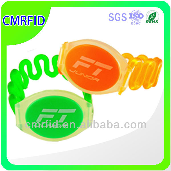 plastic/PVC rfid safety wristband alarms