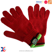 Hairwake Industrial and Trading Company soft felt cute winter glove cheap winter warm knittd gloves