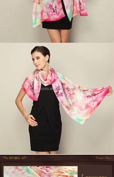 True Show100% silk scarf china 2017 hangzhou fashion custom scarf