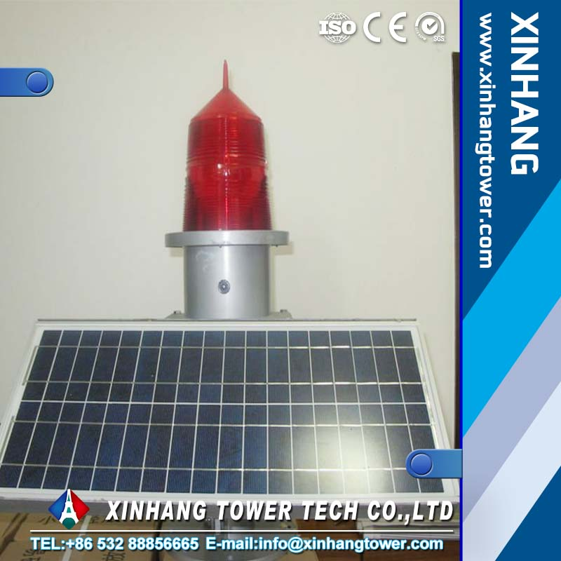 TXH-155 15w solar LED flashing tall building aviation warning light for towers chimmeys and bridges