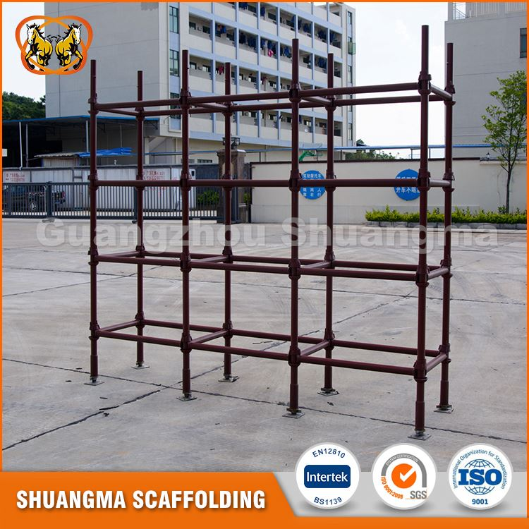 Highly damage resistant galvanized steel cuplock scaffolding part