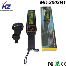 Security products manufacturer supply 9 volt battery (6F22ND) power supply simple handle metal detector MD3003B1