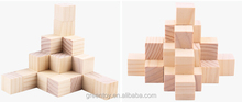 wooden block puzzle educational toys natural wood color