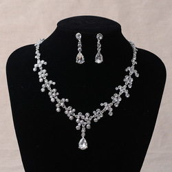 factory directly selling wholesale wedding jewelry set bridal necklace set with earrings