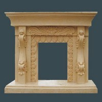Factory wholesale design decorative french marble electric fireplace