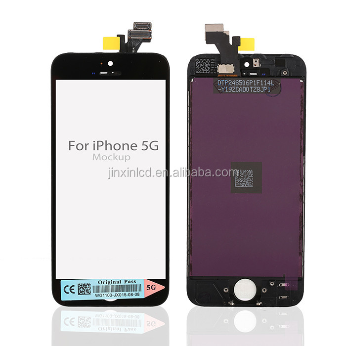[Jinxin]Mobile Phone For iphone 5 LCD Screen touch with Digitizer Full Assembly