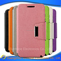 tpu pu flip leather wallet cases with cards holder for Lenovo RocStar A319