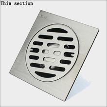 Thin section Thick section 304 stainless steel Floor drain Pest control Anti blocking Fast water Single floor drain