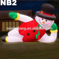 NB-CM-3021 Artistic Giant inflatable LED snowman for party decoration