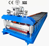 Cheap price crazy selling glazed corrugated roof tile machine