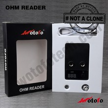 Hot sale alibaba express Wotofo Electronic Cigarette Ohm Meter Battery Voltage Meter atomizer resistance tester ohm meter