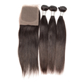cheap brazilian virgin hair weave with lace closure, wholesale straight 100% raw unprocessed virgin brazilian hair