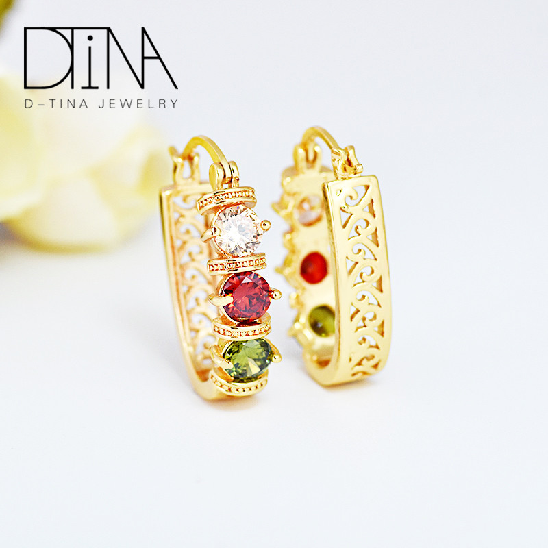 Dtina the unique AAA cubic zircon oxide small earrings