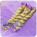 Exellent quality light blonde braiding curl 100 percent human hair india!!