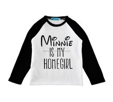 Summer raglan sleeve letter printing wholesale cotton kids t shirt
