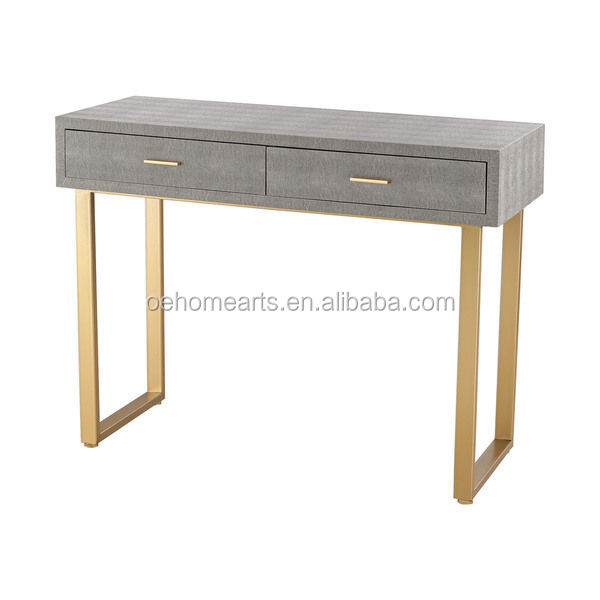 Simple style home office desk, stainless steel office computer desk