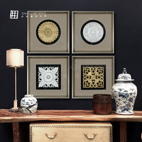 Pure Handmade LOG carving art Painting for wall decor decoration painting