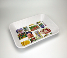 Promotion gift set mini lego oval plastic serving tray for home