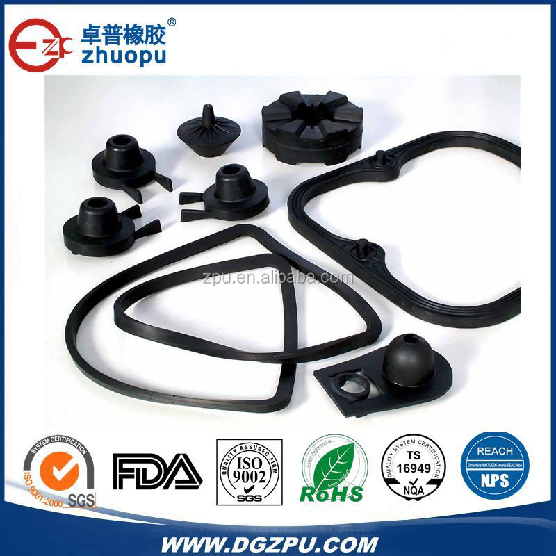 Flexible customized Automotive Industrial OEM Rubber Products Parts