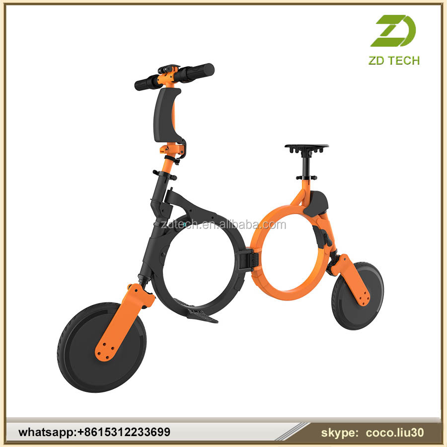 2016 Unique Designed 10inch Light Smart Portable Folding Electric <strong>Bike</strong> ZDT474