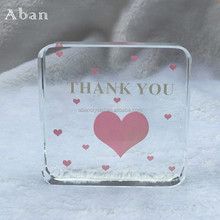 personal wedding give away gifts,engraving crystal wedding door gifts