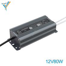 12V 24V 6A 3A 80W Waterproof LED Power Supply with PWM Function