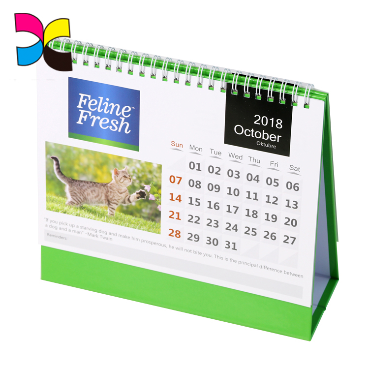 Different style printed hanging customized calendar