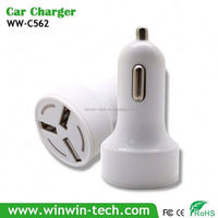 CE ROHS FCC 3USB ports usb car charger for samsung galaxy s
