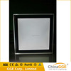 Square or rectangle shape transparent frame backlit acrylic picture frame led display light box