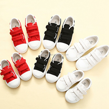 Spring children's canvas shoes kids low help boys white shoes children's shoes