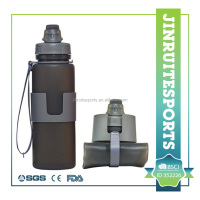 accordion flexible silicone collapsible water bottle