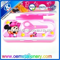The new sell like hot cakes Animated cartoon Mickey Mouse design Velcro plastic school pencil case