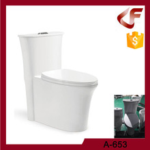 Small waist Super - vortex siphonic one piece ceramic toilet