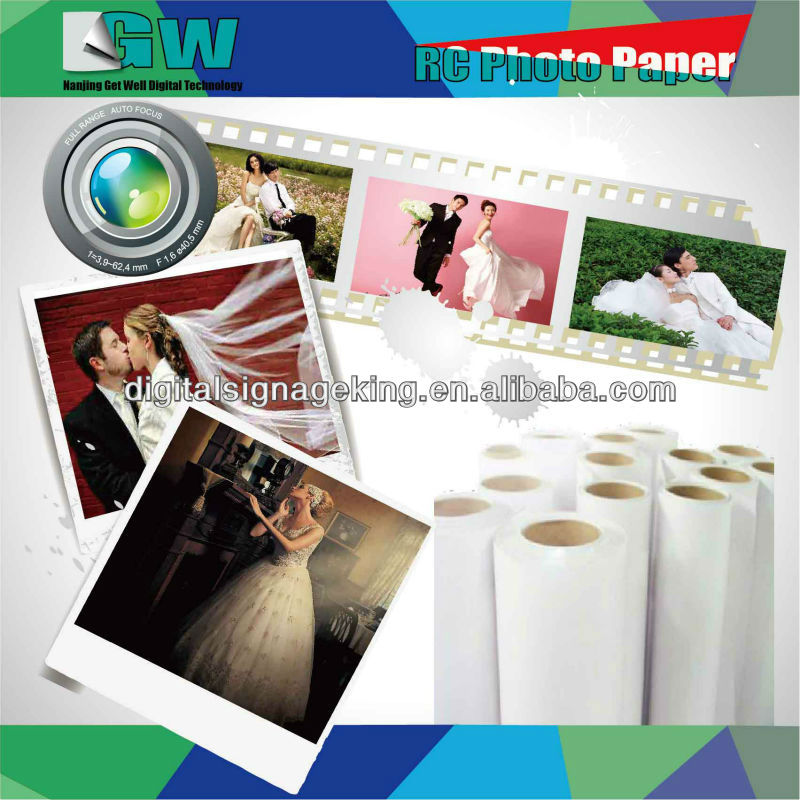 190gsm/240gsm/260gsm RC photo paper(silky,glossy,satin)