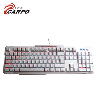 7 color Wave Marquee Lighting Mode mechanical keyboard for gaming with Kaihua switch