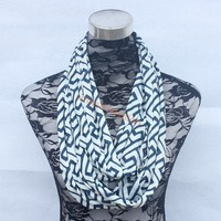 New Greek Key Inifinity Scarf Wave Chevron Infinity Scarf Women and Teens Circle Loop scarf circle rin 12PCS/lot Wholesale STOCK