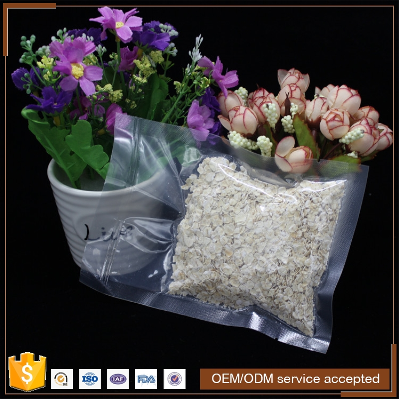 garvure printing vacuum packing plastic frozen food bags for shrimps with window