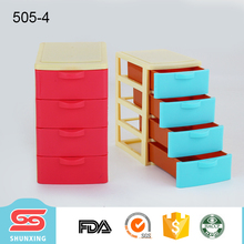 widely use tabletop storage chest of drawers plastic for container sundries