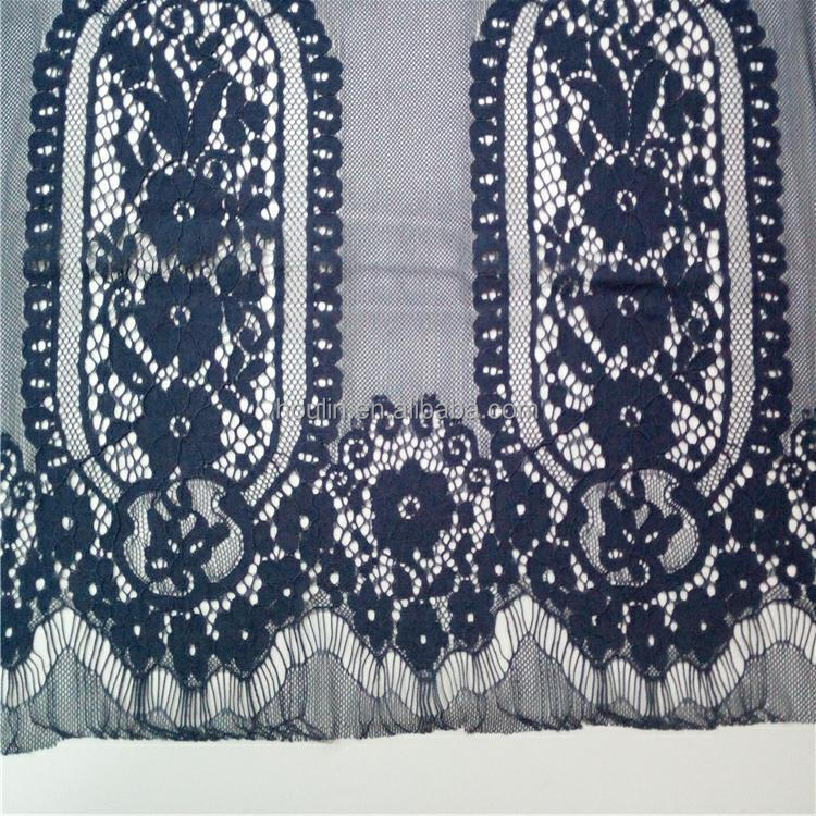 S757 nylon cotton eyelash embroidered tulle lace one piece dress fabric fabric