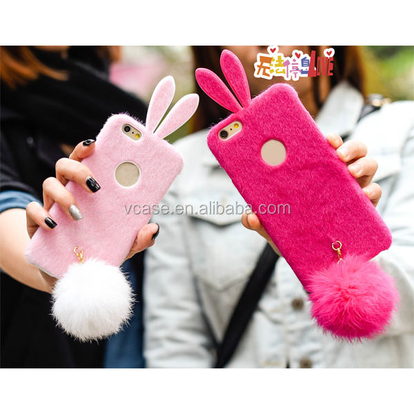 cute cartoon rabbit case lovely skin cover for Samsung Galaxy Note 2/3/4