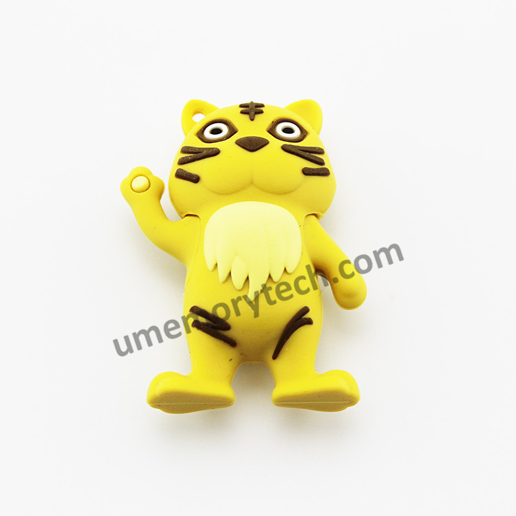 Novelty design usb tiger shape usb flash drive cheap thumb pendrive 64gb flash drive accept paypal