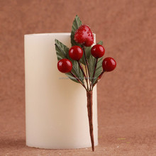 wholesale artificial christmas decorative red berry pick decorations
