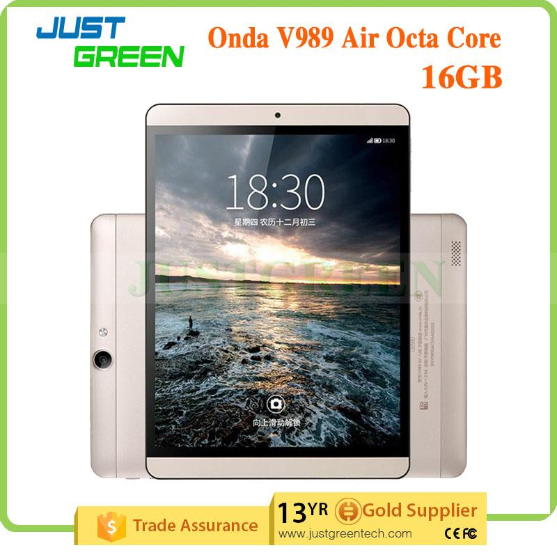 Fashion! Onda V989 Air(16GB)Gold Version Tablet 9.7 inch 2048*1536 Octe Core Wi-Fi 2GB/16GB android 4.4 Play store Bluetooth