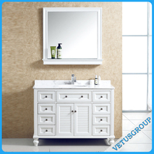 VTL-8156 High quality white waterproof solid wood bathroom vanity units